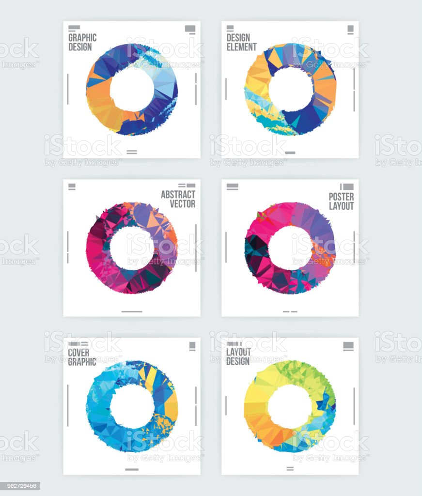 abstract circle shape graphic design poster layout template stock