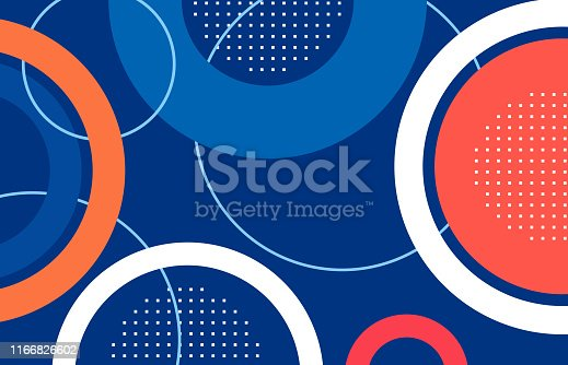 abstract circle shape blue,red,orange  background.illustration for your work.vector