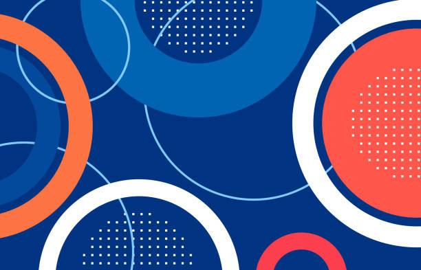 abstrakcyjny kształt okręgu .illustration .vector - kolory stock illustrations