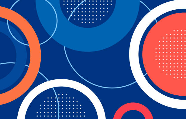 abstract circle shape .illustration .vector abstract circle shape blue,red,orange  background.illustration for your work.vector multi layered effect stock illustrations
