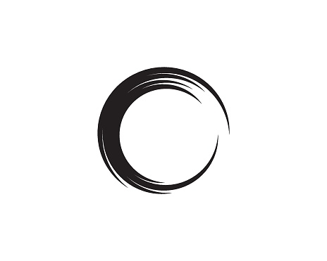 Abstract circle template