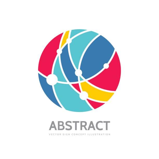 Abstract circle - vector symbol template concept illustration. Modern technology sign. Global network creative symbol. Design element. vector art illustration