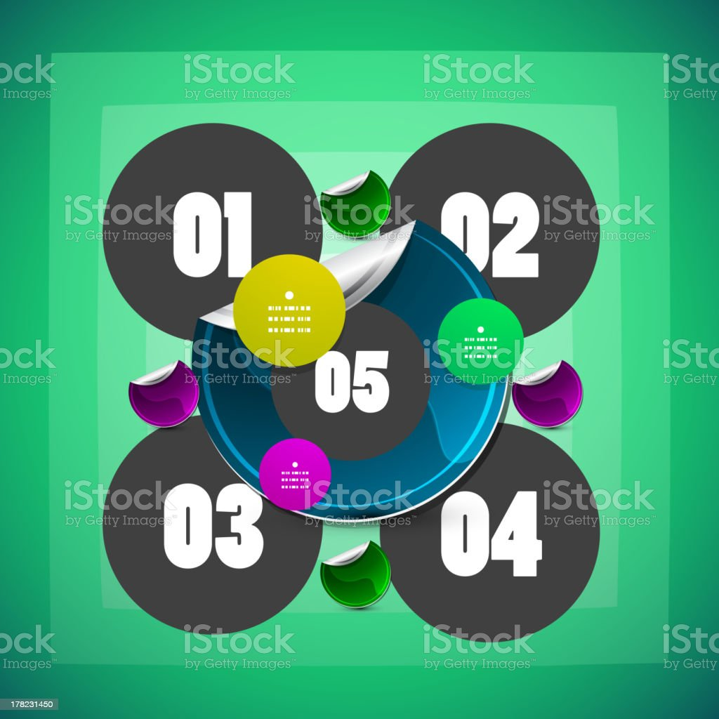 Abstract circles background royalty-free abstract circles background stock vector art & more images of backdrop