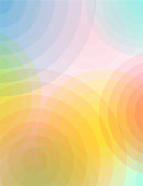Abstract Circles of Color and Transparency Background Illustration