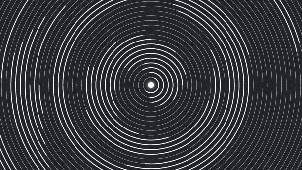 abstract circles - zwinięty aranżacja stock illustrations