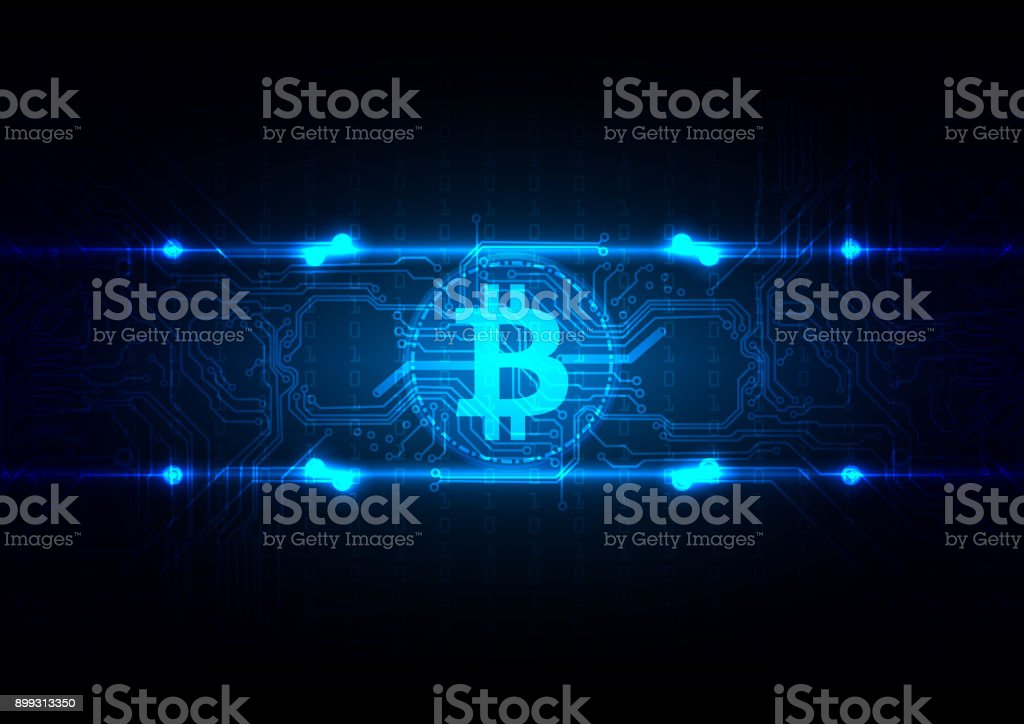 Abstract Circuit  Bitcoin Technology Background Illustration vector desing vector art illustration