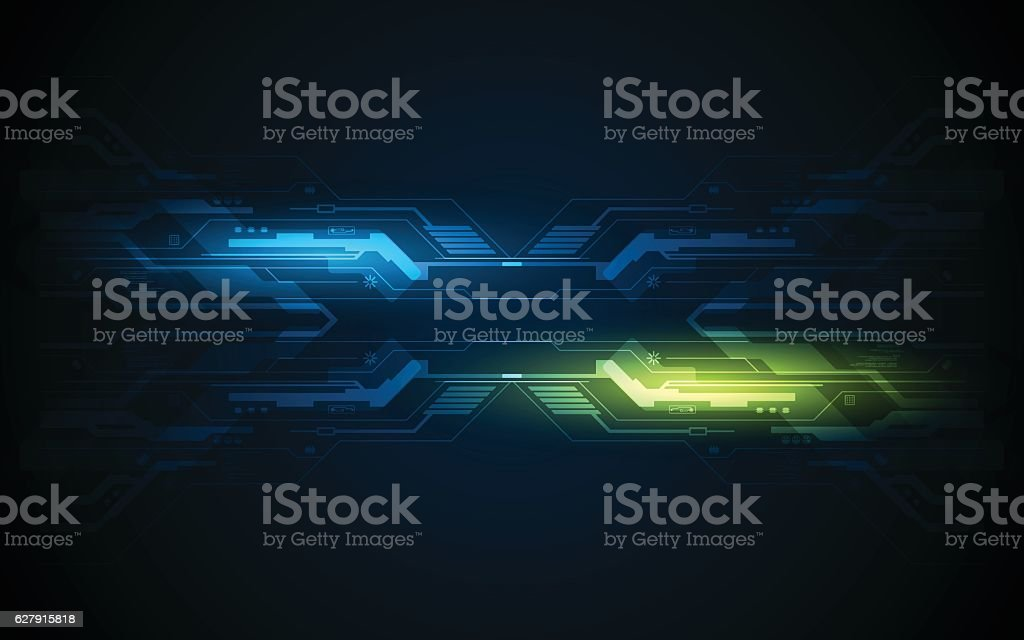 abstract circuit hi tech pattern technology innovation frame concept background vector art illustration