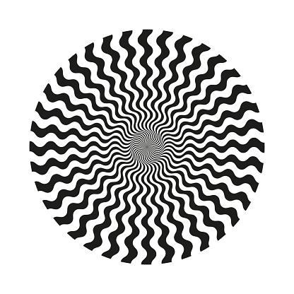Abstract circular line pattern