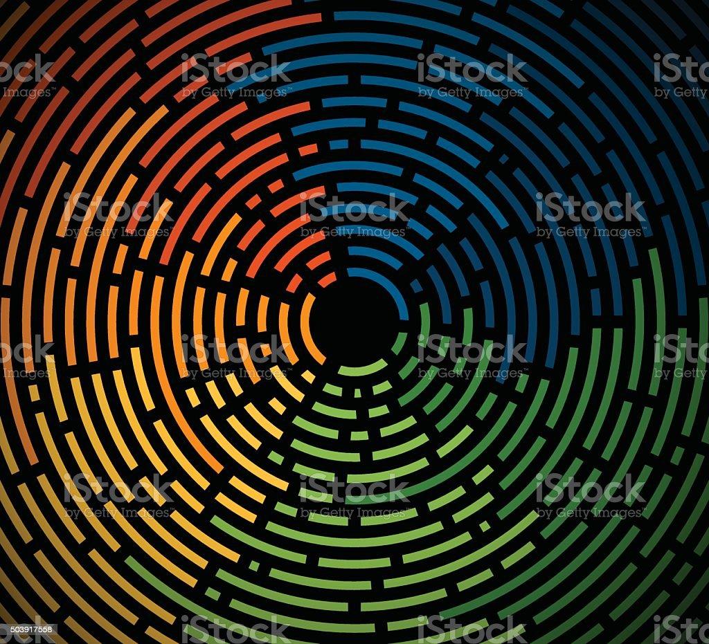 Abstract Circular Lines royalty-free stock vector art