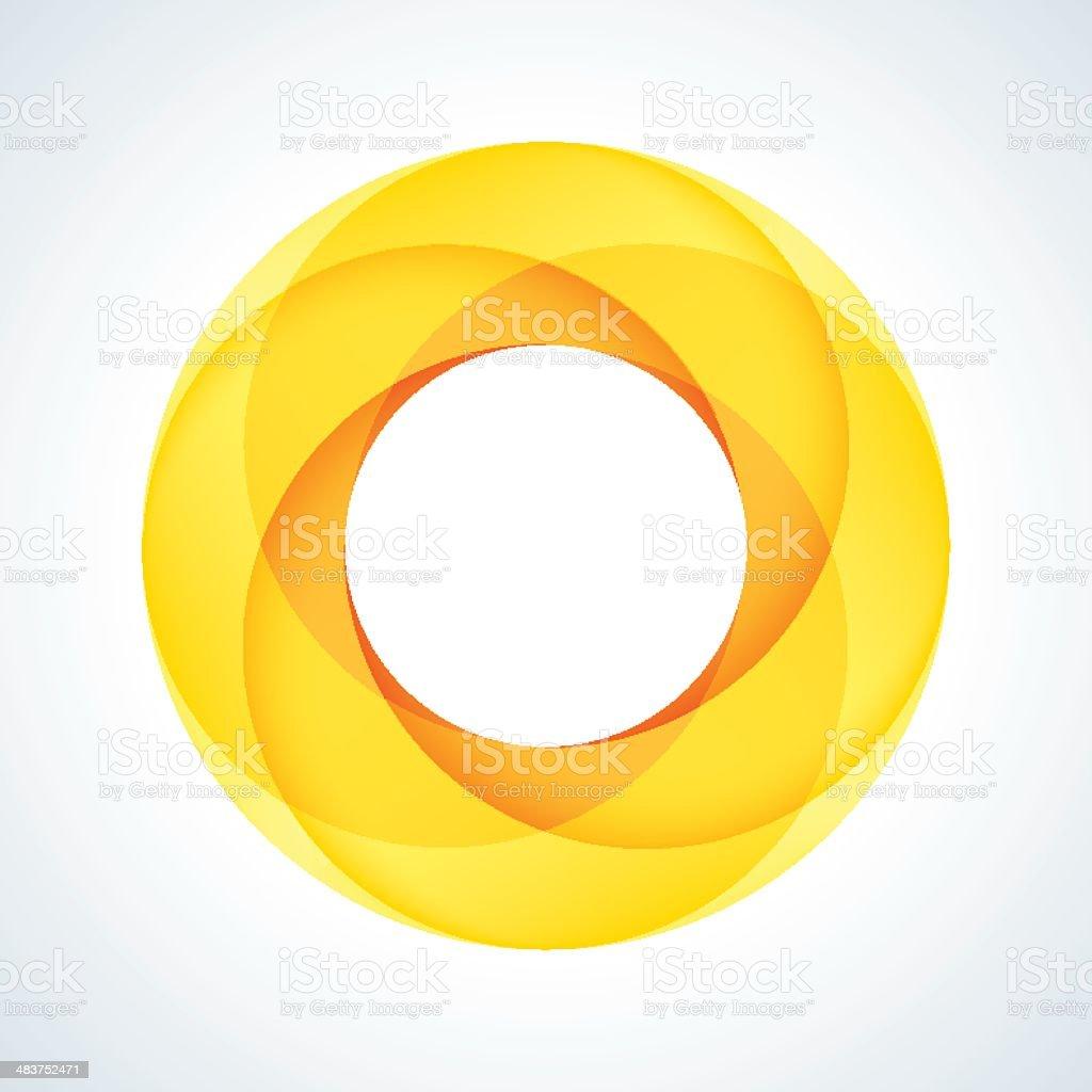 Abstract Circular Logo Design Element vector art illustration