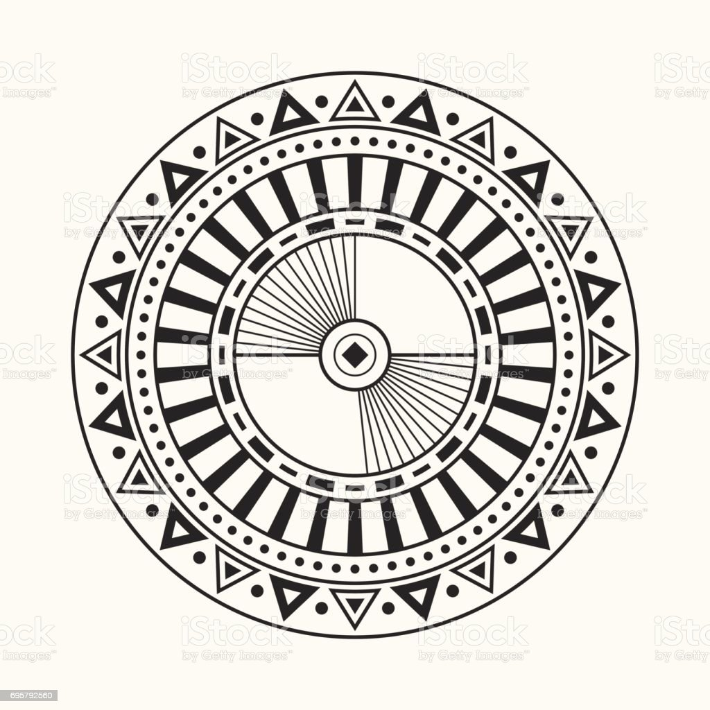 Abstract circular ornament. vector art illustration