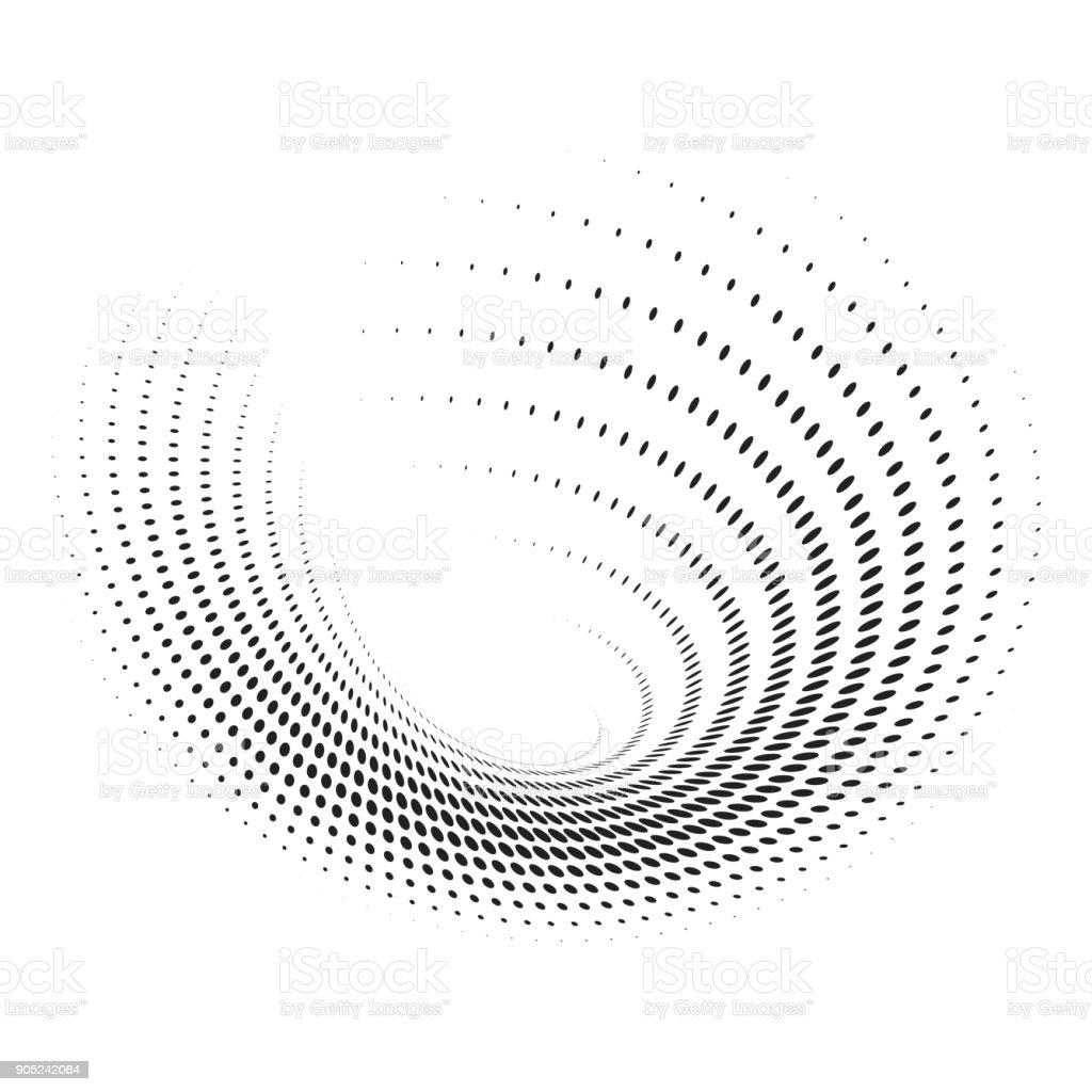 Abstract circular spotted shape vector art illustration