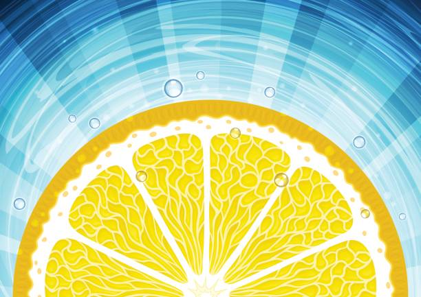 Abstract citrus background vector art illustration