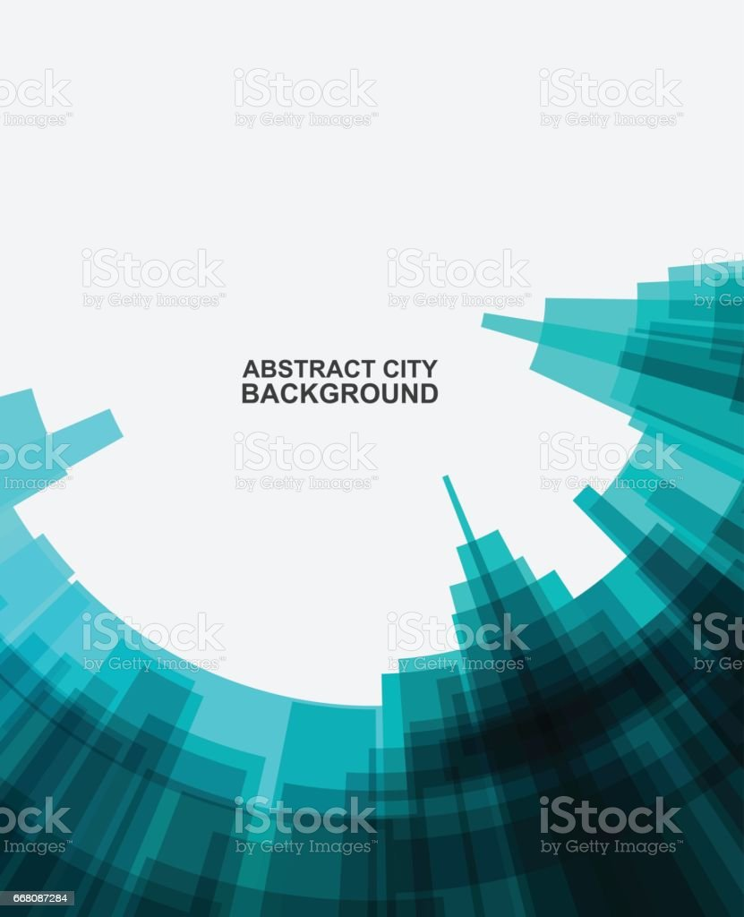 abstract city building pattern background vector art illustration