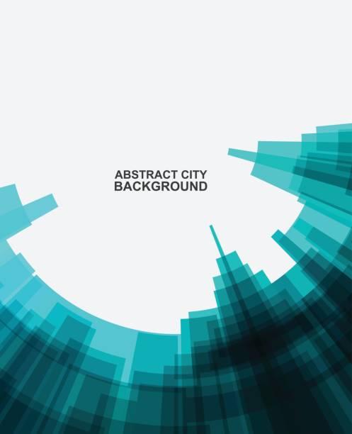 ilustrações, clipart, desenhos animados e ícones de fundo com padrão abstrato edifício da cidade - operário de construção