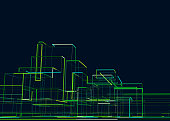 abstract city building