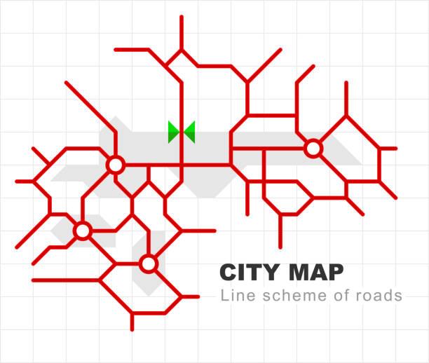 路線図 イラスト素材 Istock