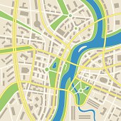 Fictious map of abstract city