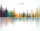 abstract city pattern background