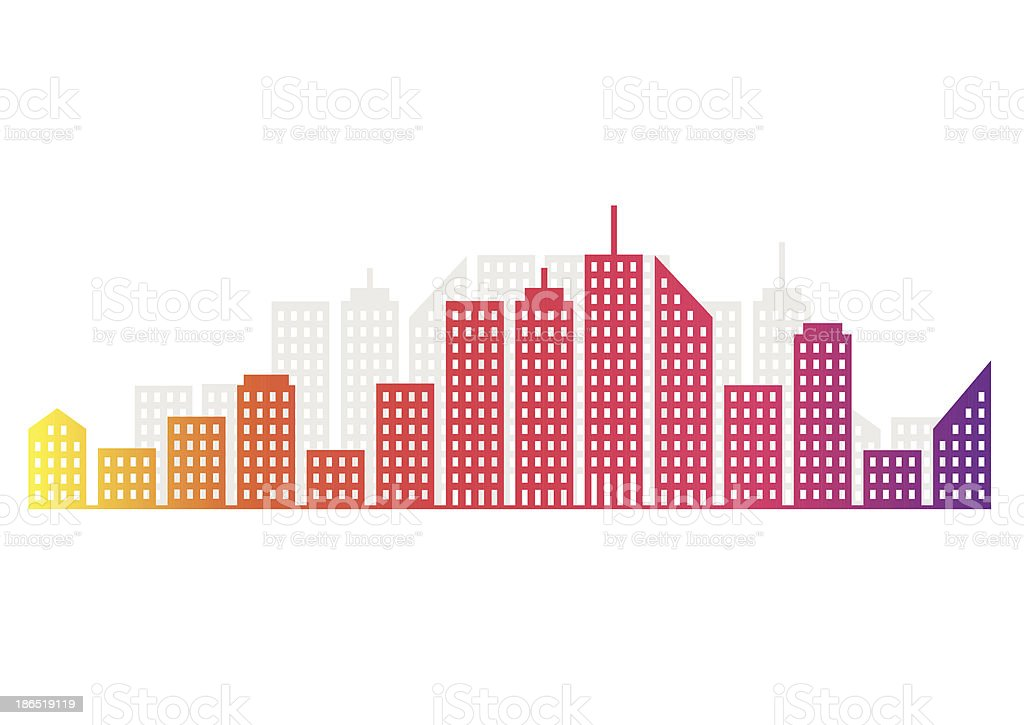 Abstract City Skyline royalty-free abstract city skyline stock vector art & more images of abstract