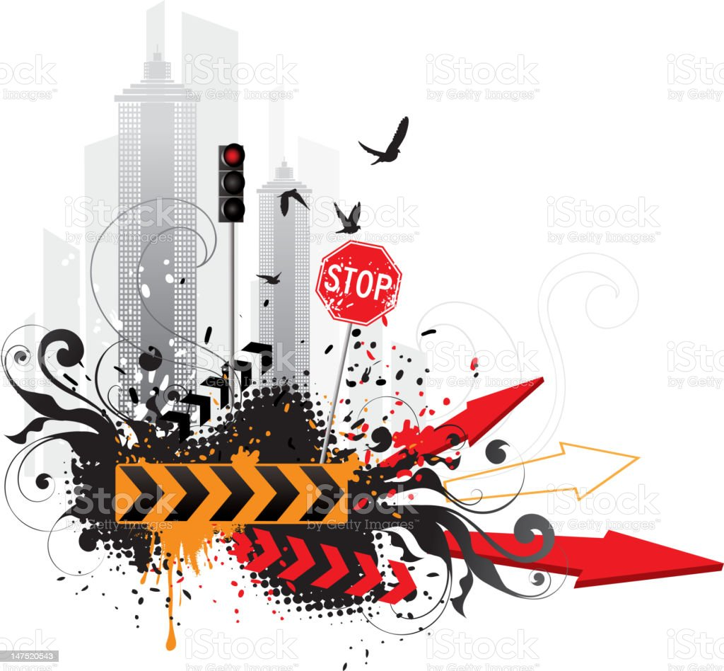 Abstract city royalty-free stock vector art