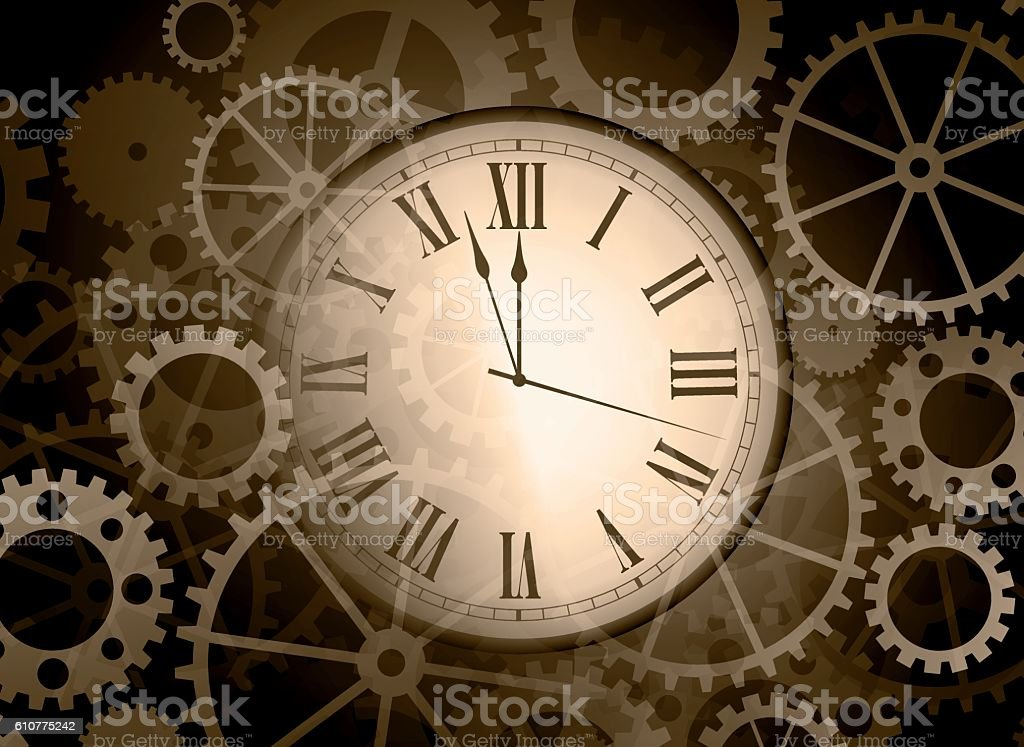 Abstract Clock Background Stock Illustration Download Image Now Istock