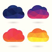 Abstract Cloud Triangle colorful Geometric Set