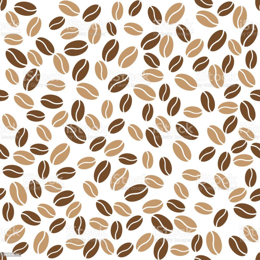 Abstracte koffiebonen patroon witte achtergrond - Royalty-free Abstract vectorkunst