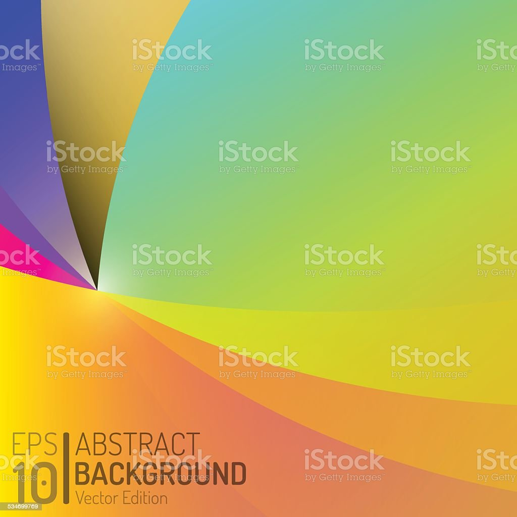 Abstract Color Background Design. Vector Elements. Creative Isolated Wallpaper Illustration