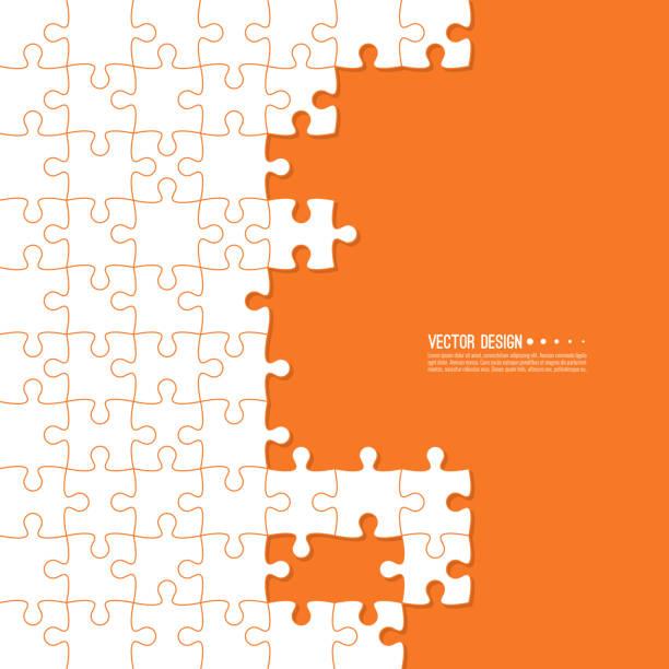 abstrakte farbe hintergrund der stichsäge gemacht. - puzzle stock-grafiken, -clipart, -cartoons und -symbole