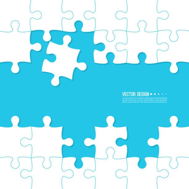 bildbanksillustrationer, clip art samt tecknat material och ikoner med abstrakt färg bakgrund gjord av jigsaw. - puzzle