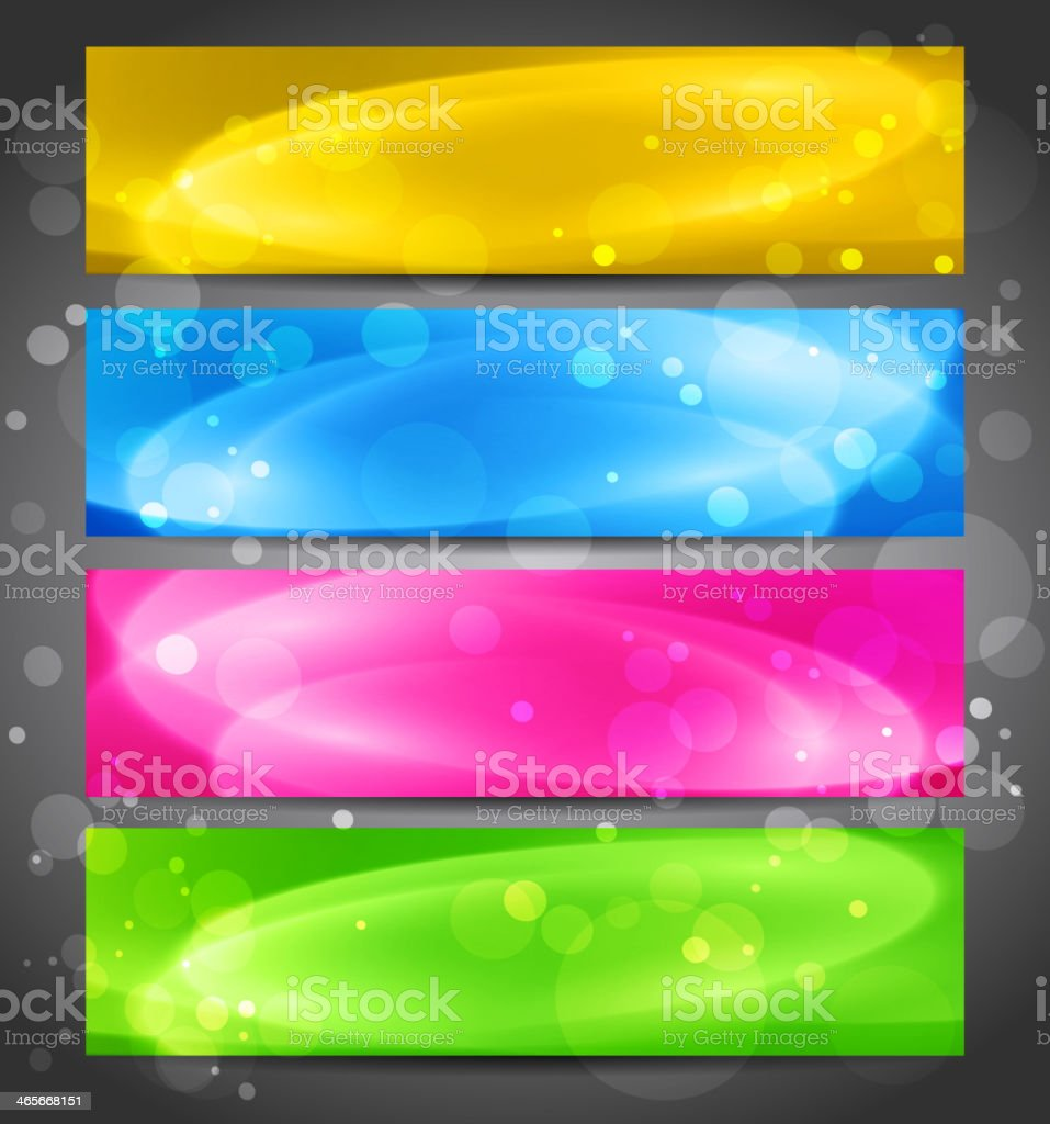 Abstract color banner royalty-free stock vector art