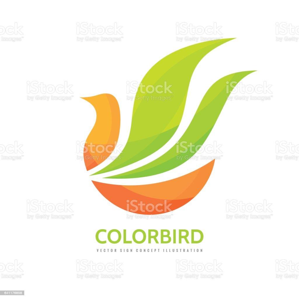 Abstract color bird - vector logo template concept illustration. vector art illustration