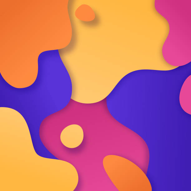 Abstract Color Blobs Background vector art illustration