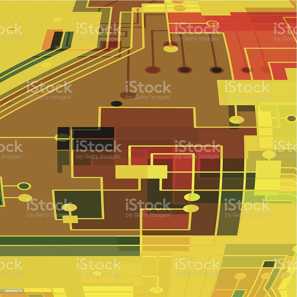 Schemi Elettrici Di Circuiti : Colore astratto sfondo schema di circuito stampato immagini