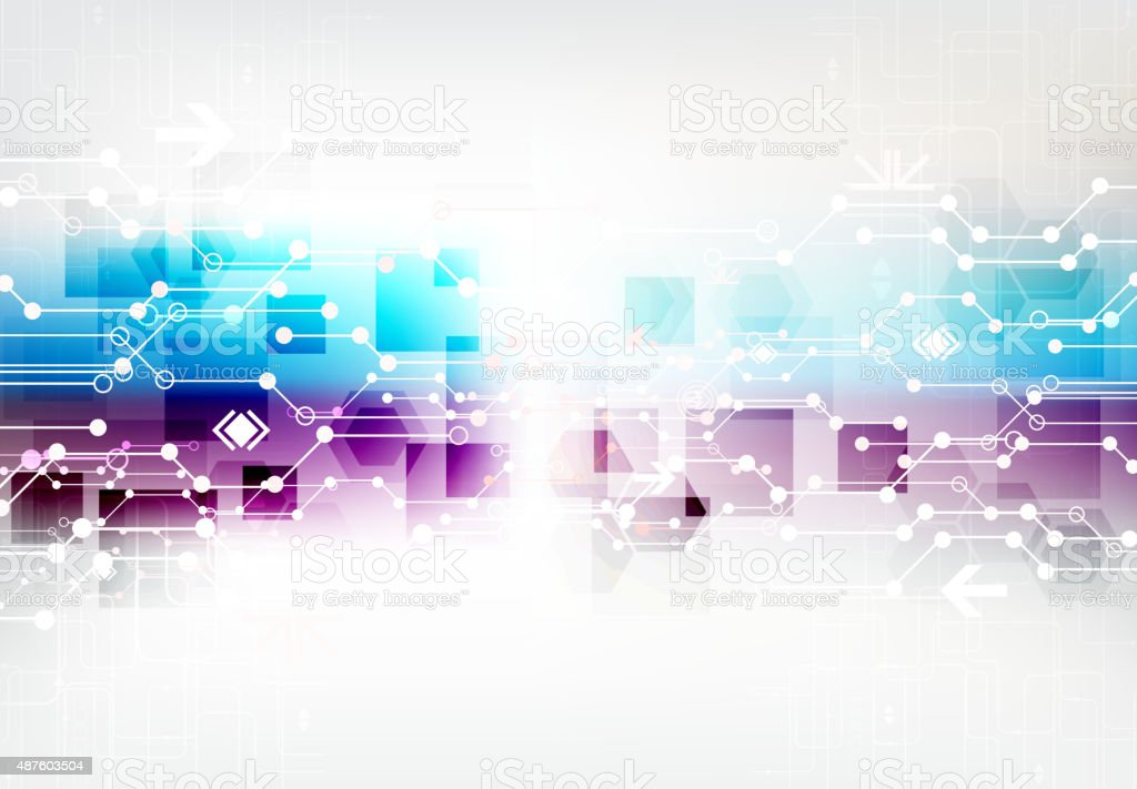 Abstract Color Digital Communication Technology Background ...