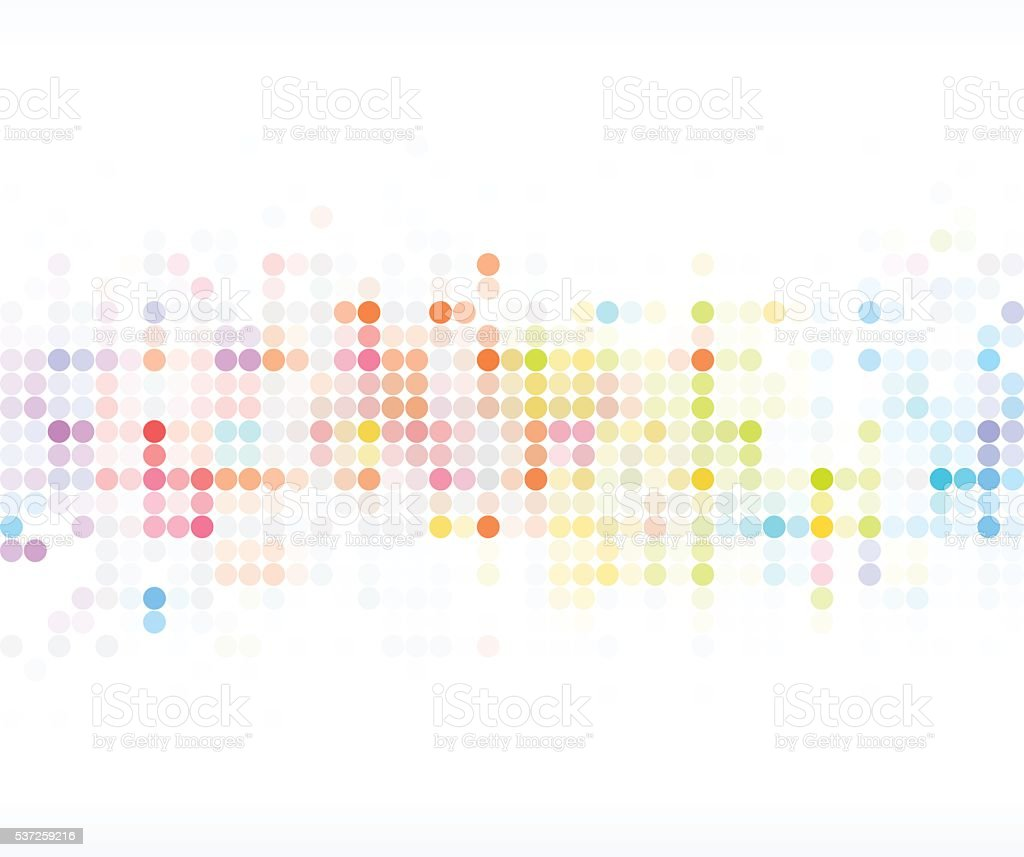 abstract color dot technology pattern background vector art illustration