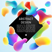 Abstract color fluid design template in vector