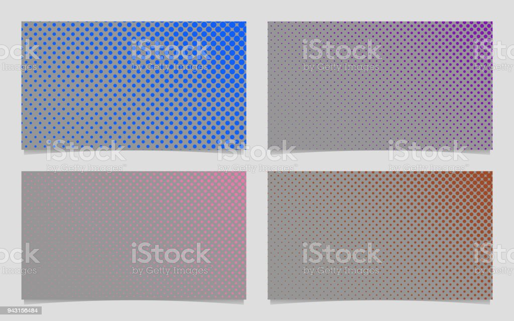 abstract color halftone dot pattern business card background design
