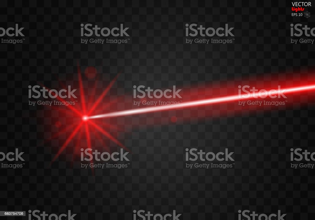 Abstract color laser beams. Isolated on transparent black background. vector art illustration