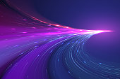 Abstract color light lines background in vector