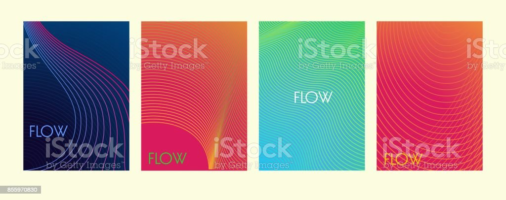 Abstract color lines background. Minimalist vector covers design. Elements for card, website, wallpaper, presentation.
