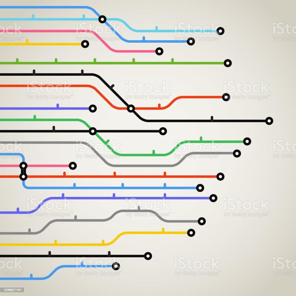 Abstrakte Farbe Hintergrund metro-System – Vektorgrafik