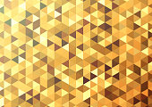 Abstract color mosaic background. Gold vector background. Format A4.