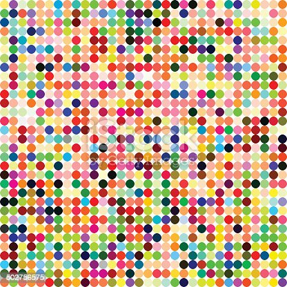 abstract color polka dots pattern background for design