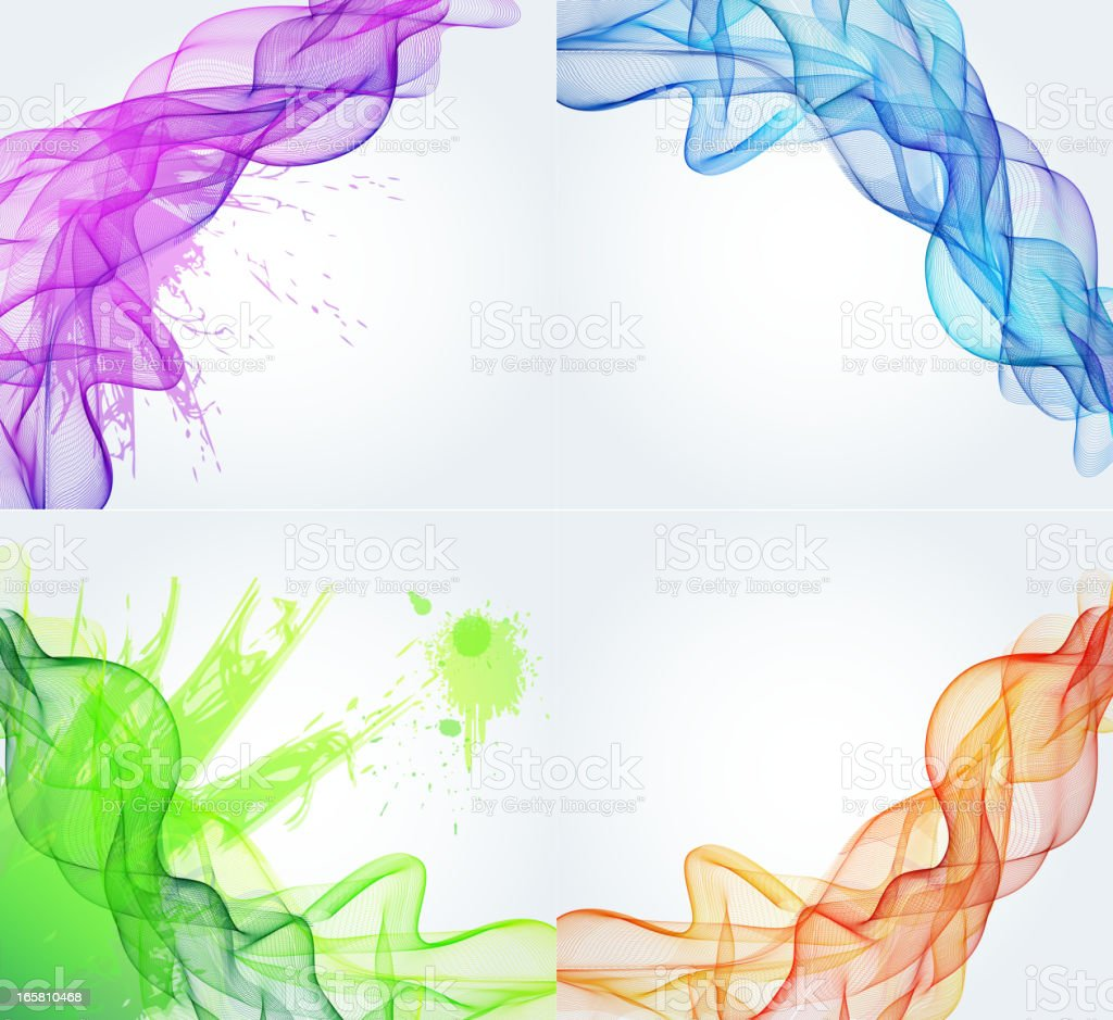 Abstract color smoky background royalty-free stock vector art