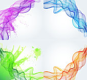 Abstract color smoky background
