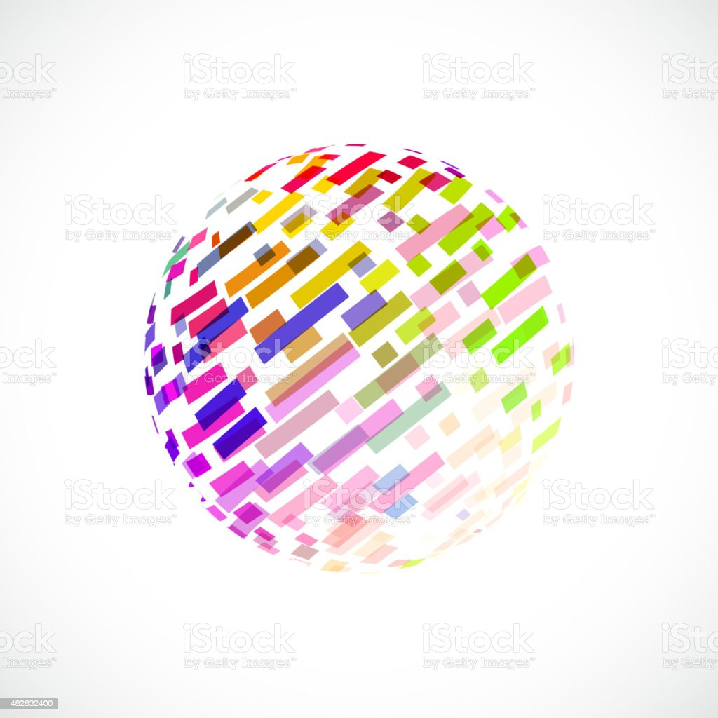 abstract color stripe icon vector art illustration