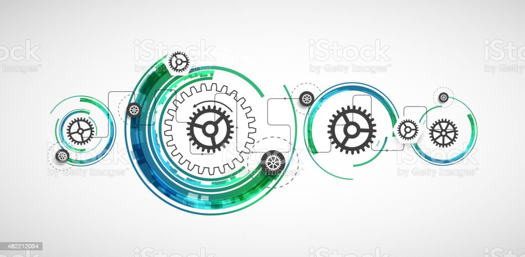 Abstract color technology computer technology background vector art illustration
