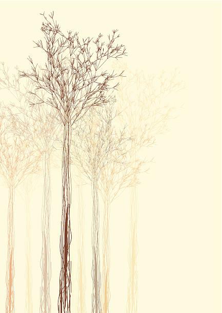 Couleur de fond abstrait Arbre en forme - Illustration vectorielle